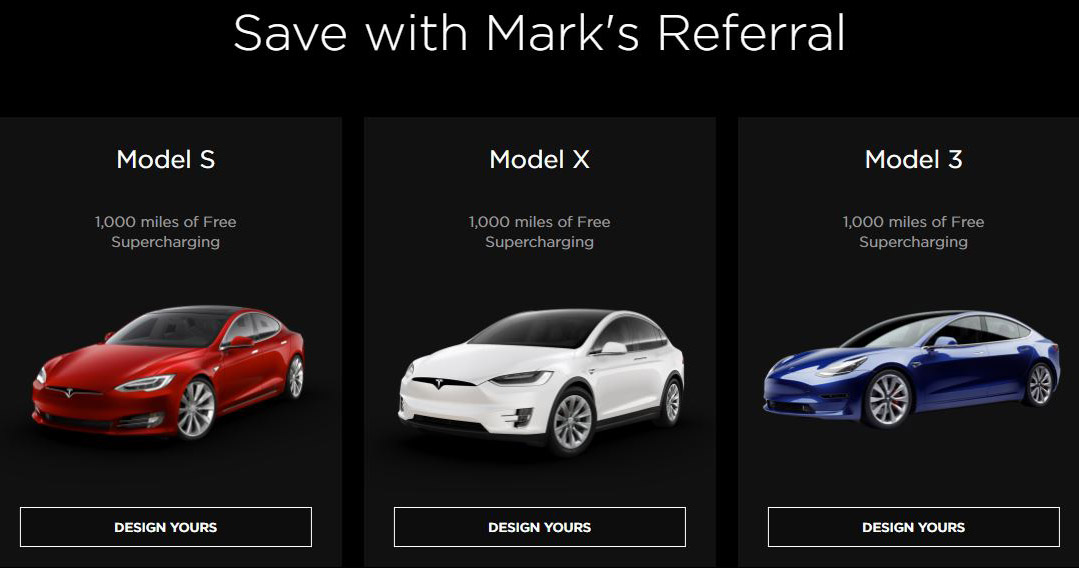Save with Mark's Tesla Referral Code